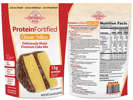 proteinfull baking protein cake mix classic yellow